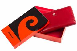 Skórzany portfel damski Pierre Cardin piórnik
