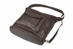 Pojemna torebka damska A4 vera pelle worek plecak