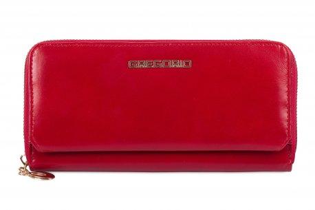 Duży skórzany portfel damski na prezent