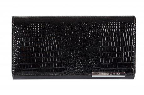 Klasyczny lakierowany portfel damski skóra GR1