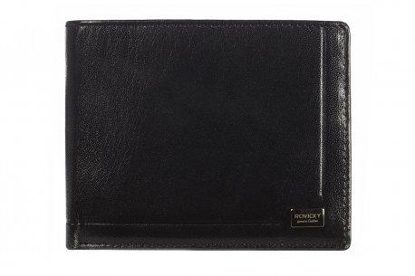 Skórzany klasyczny portfel męski czarny