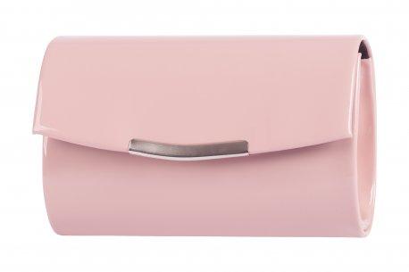 Elegancka torebka damska owalna wizytowa kopertówka