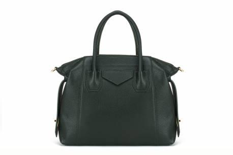 Torebka shopper klasyczna torba damska Vera Pelle skóra naturalna czarna