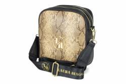 Laura Biaggi torebka listonoszka damska torba na ramię skóra wężą