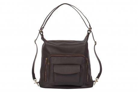 Pojemna torebka A4 vera pelle worek plecak