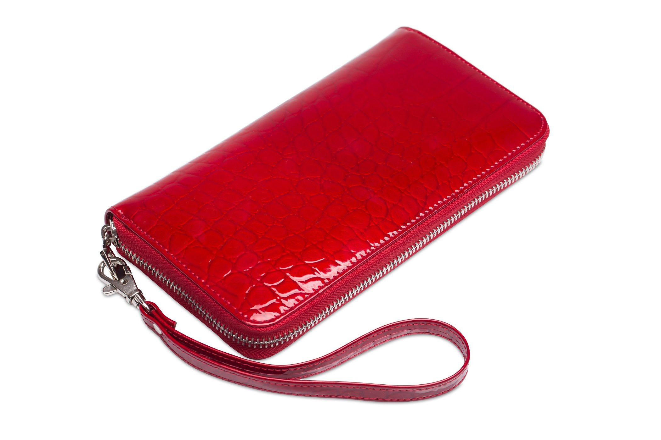 2f608d974736c Duży lakierowany portfel damski, piórnik, skórzany, cena - sklep ...