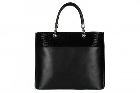 Klasyczna pojemna torebka damska teczka