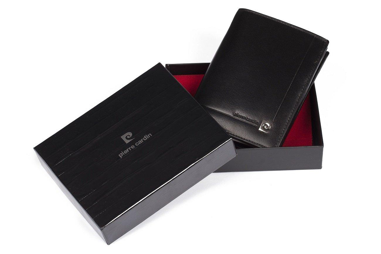76a2d451b027f ... Skórzany czarny portfel męski Pierre Cardin ...