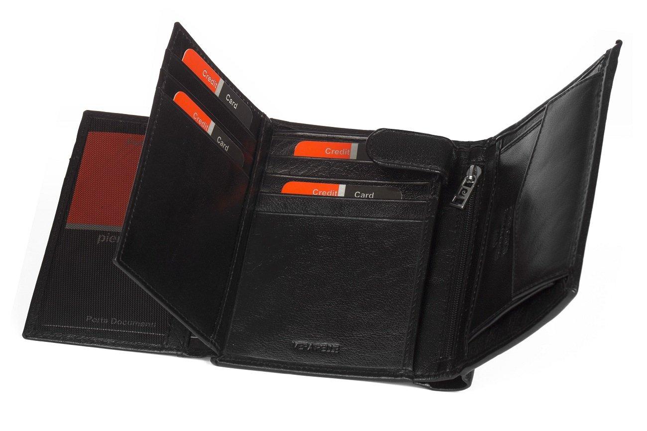 a6d3f745a19c2 ... Skórzany czarny portfel męski Pierre Cardin