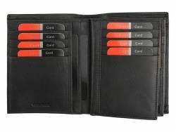 Skórzany męski czarny portfel Pierre Cardin