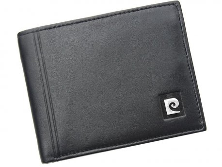 Skórzany czarny męski portfel Pierre Cardin TILAK08 325