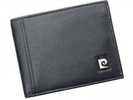 6358270247ccd Skórzany czarny męski portfel Pierre Cardin - MB CLASSIC BAG
