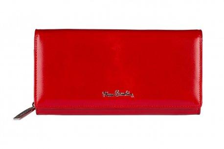 Czerwony skórzany portfel damski Pierre Cardin PC106