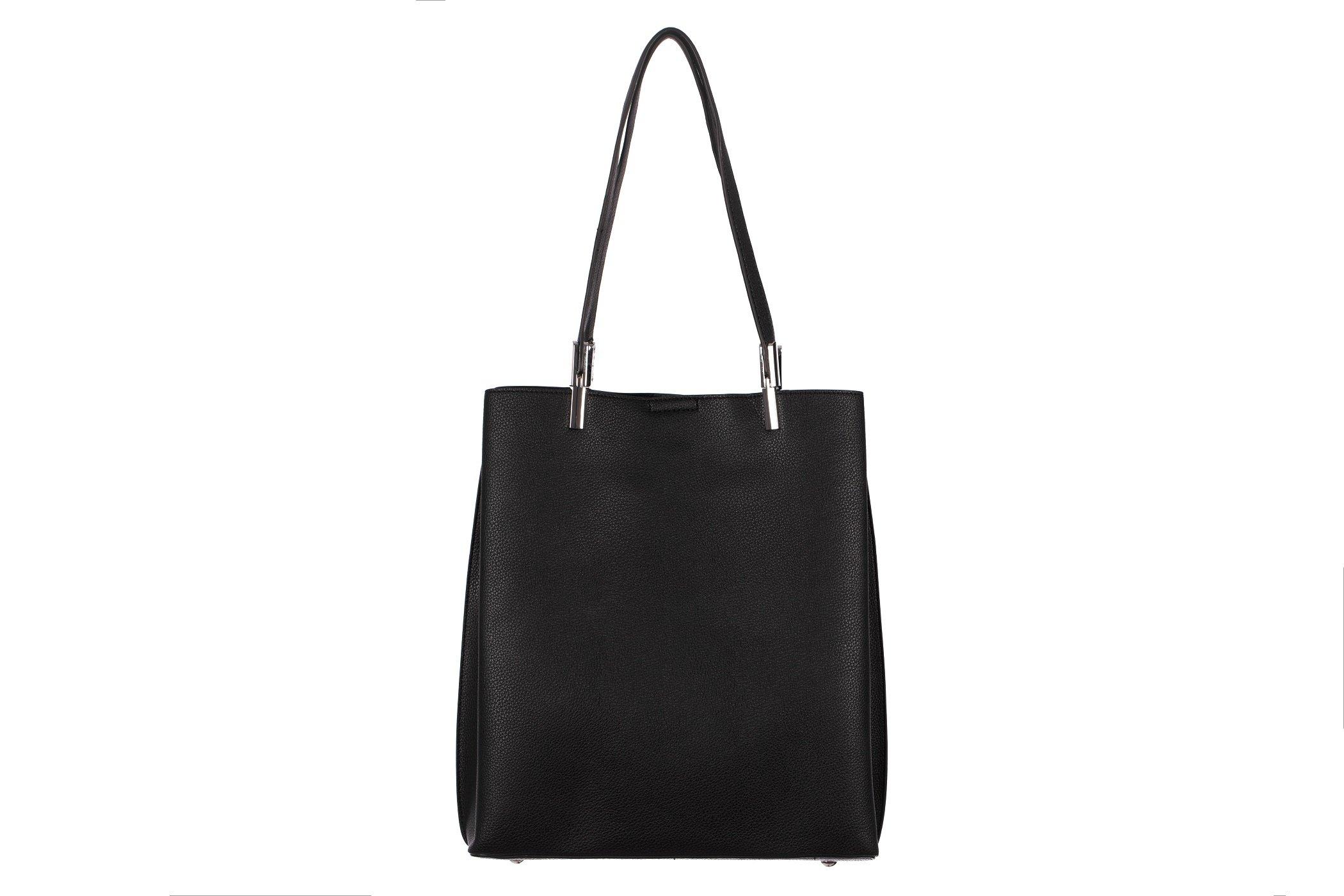 9ccfb41793082 ... Klasyczna pojemna torebka damska A4 3 komory shopper bag ...