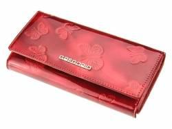 Skórzany damski klasyczny lakierowany portfel