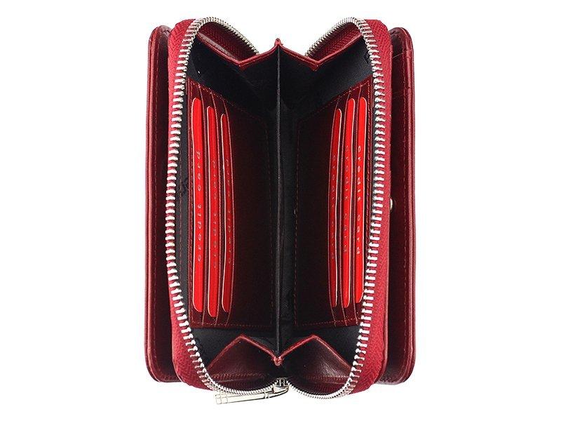 e86c4ffa251dd ... Skórzany portfel damski Pierre Cardin czerwony ...