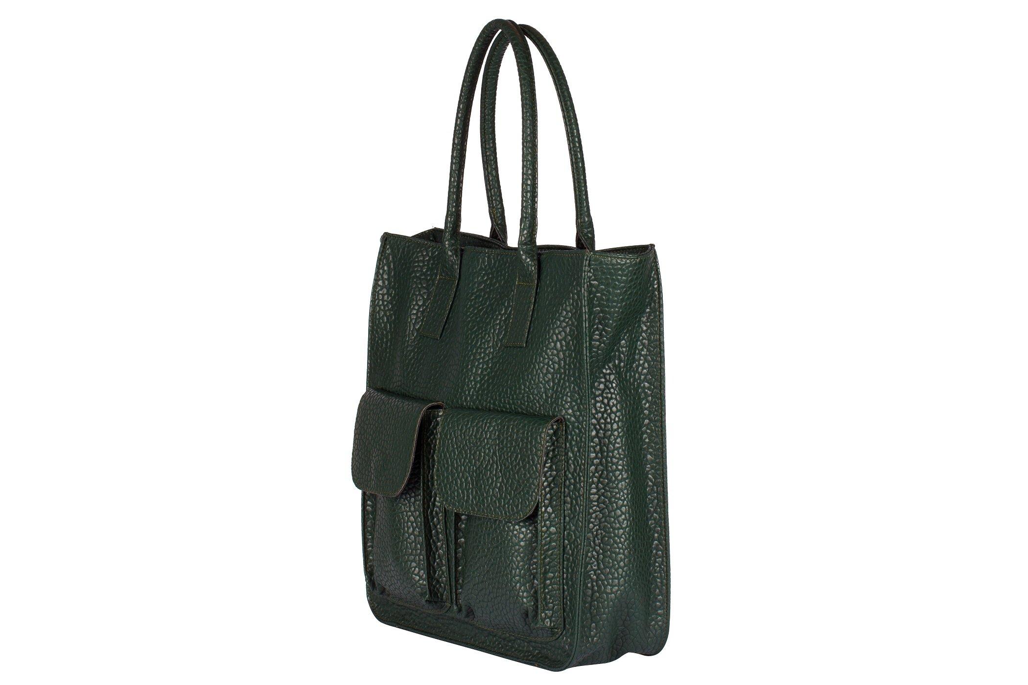 Pojemna torebka A4 shopperka kieszenie
