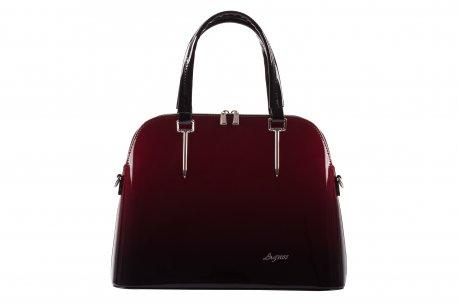 Ekskluzywna torebka damska kufer kuferek lakier cieniowany