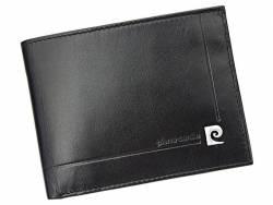 Skórzany poziomy męski portfel Pierre Cardin