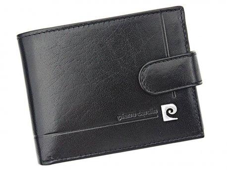 Skórzany poziomy męski portfel zapinany Pierre Cardin