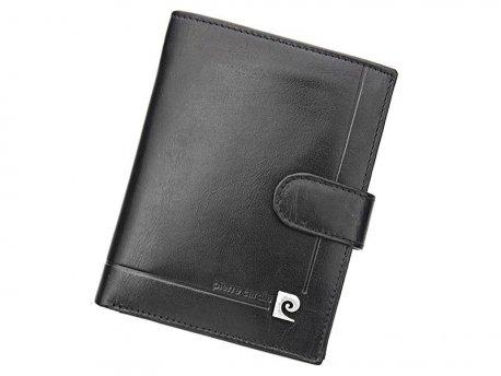 Skórzany klasyczny pionowy portfel Pierre Cardin