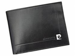 Poziomy skórzany męski portfel Pierre Cardin 100% skóra