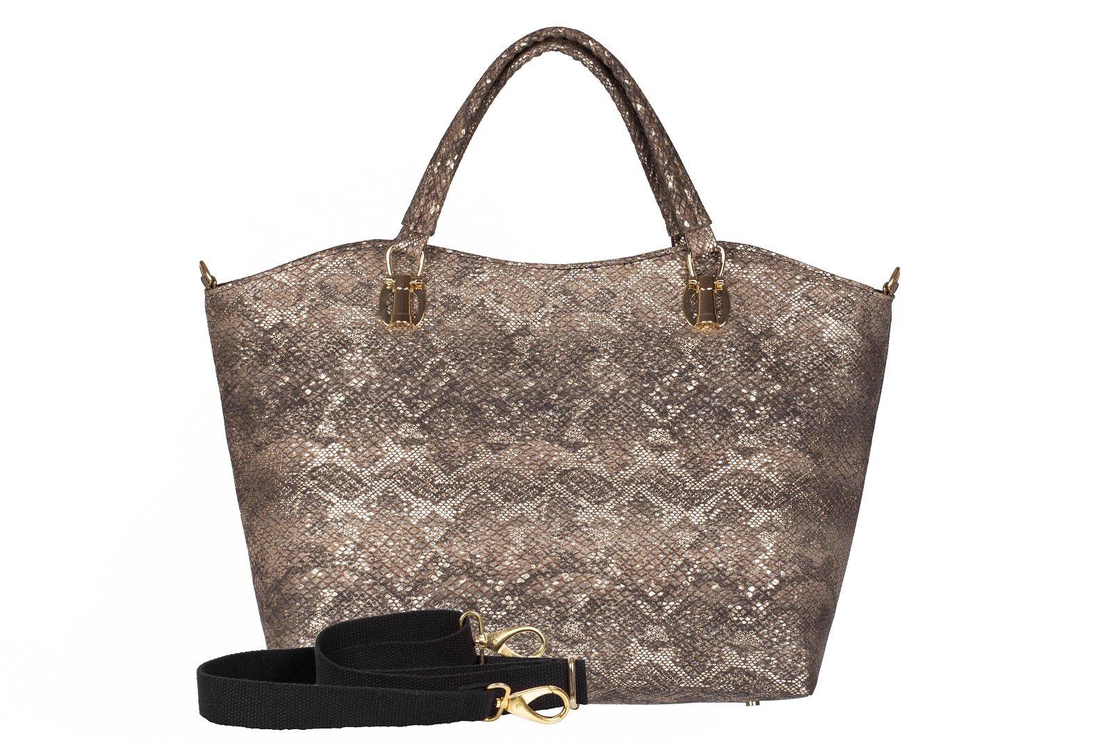 f1740c105ca47 Torebka shopper bag A4 skóra wąż - MB CLASSIC BAG