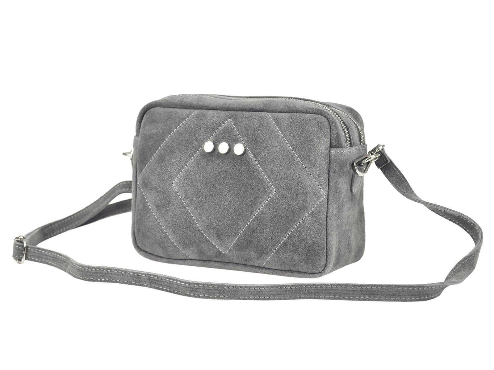 6303d20fef178 Zamszowa skórzna torebka damska listonoszka raportówka - MB CLASSIC BAG