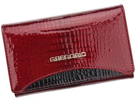 Skórzany klasyczny portfel bigiel czerwony
