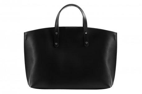 f29faeb49249c Włoska damska, elegancka torebka skórzana A4 shopper bag Vera Pelle ...