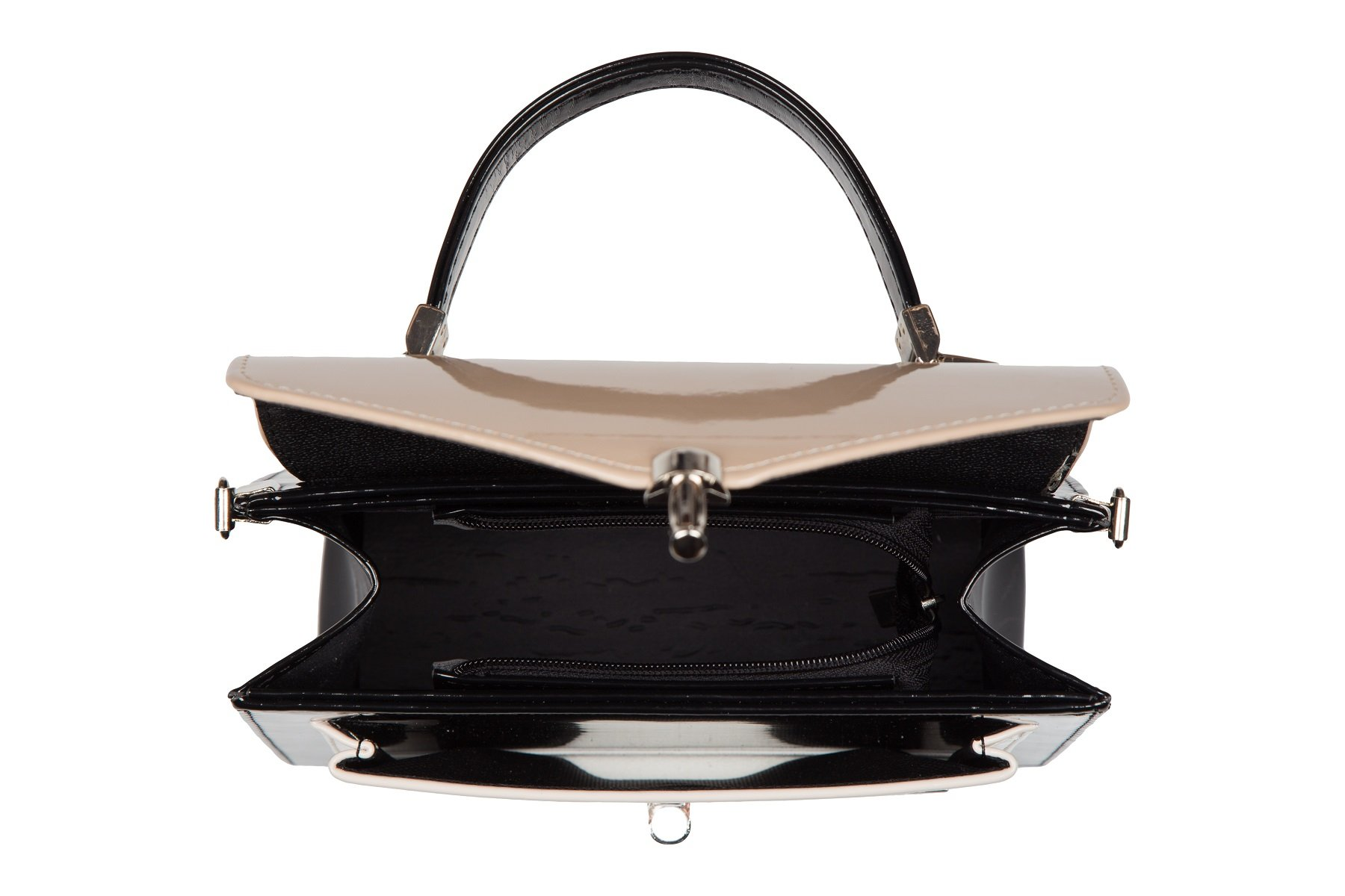 ef390686fbd7c Wizytowa lakierowana torebka damska elegancki mini kuferek teczka ...