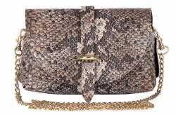 Torebka wizytowa ekstrawagancka listonoszka snake łańcuszek