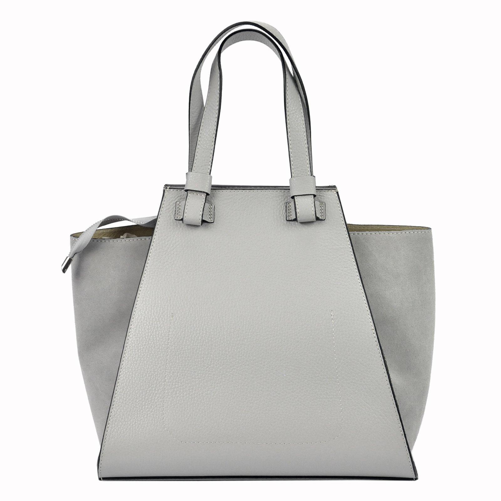 0c01d4c2baa8d Torebka damska skóra naturalna shopper bag zamsz - MB CLASSIC BAG