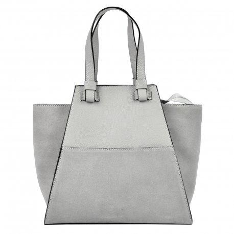 ed516bd5b563b Torebka damska skóra naturalna shopper bag zamsz - MB CLASSIC BAG