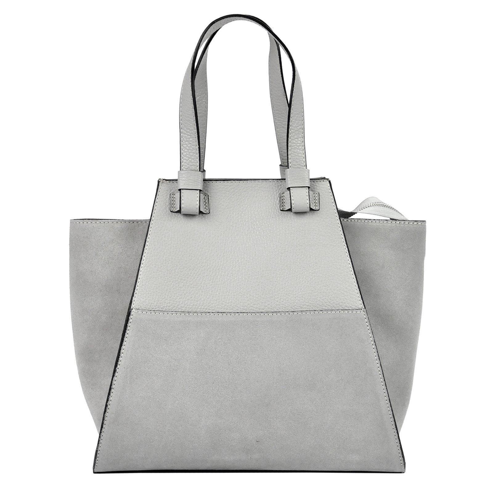 8d2c966c65b4 Torebka damska skóra naturalna shopper bag zamsz - MB CLASSIC BAG