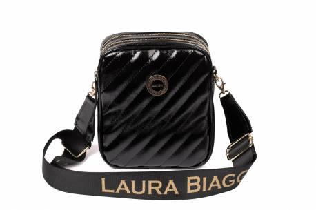 Czarna pikowana torebka listonoszka MONNARI