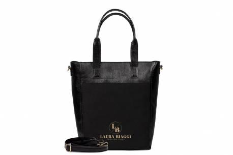 Klasyczna torebka damska Laura Biaggi czarna