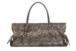 Unikatowa torebka damska miękka wąż