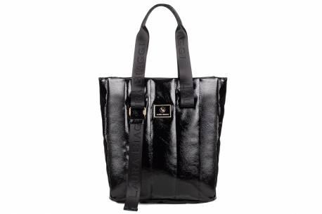 Torebka damska Laura Biaggi czarna torba shopper