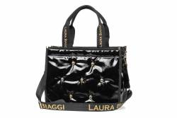 Pojemna torebka Laura Biaggi pikowana