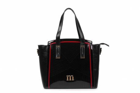 Czarna torebka damska MONNARI klasyczny kuferek