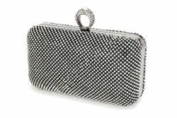 Elegancka wizytowa kopertówka puzderko bigiel cyrkonie
