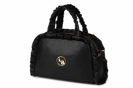 Polska czarna torebka Laura Biaggi shopper