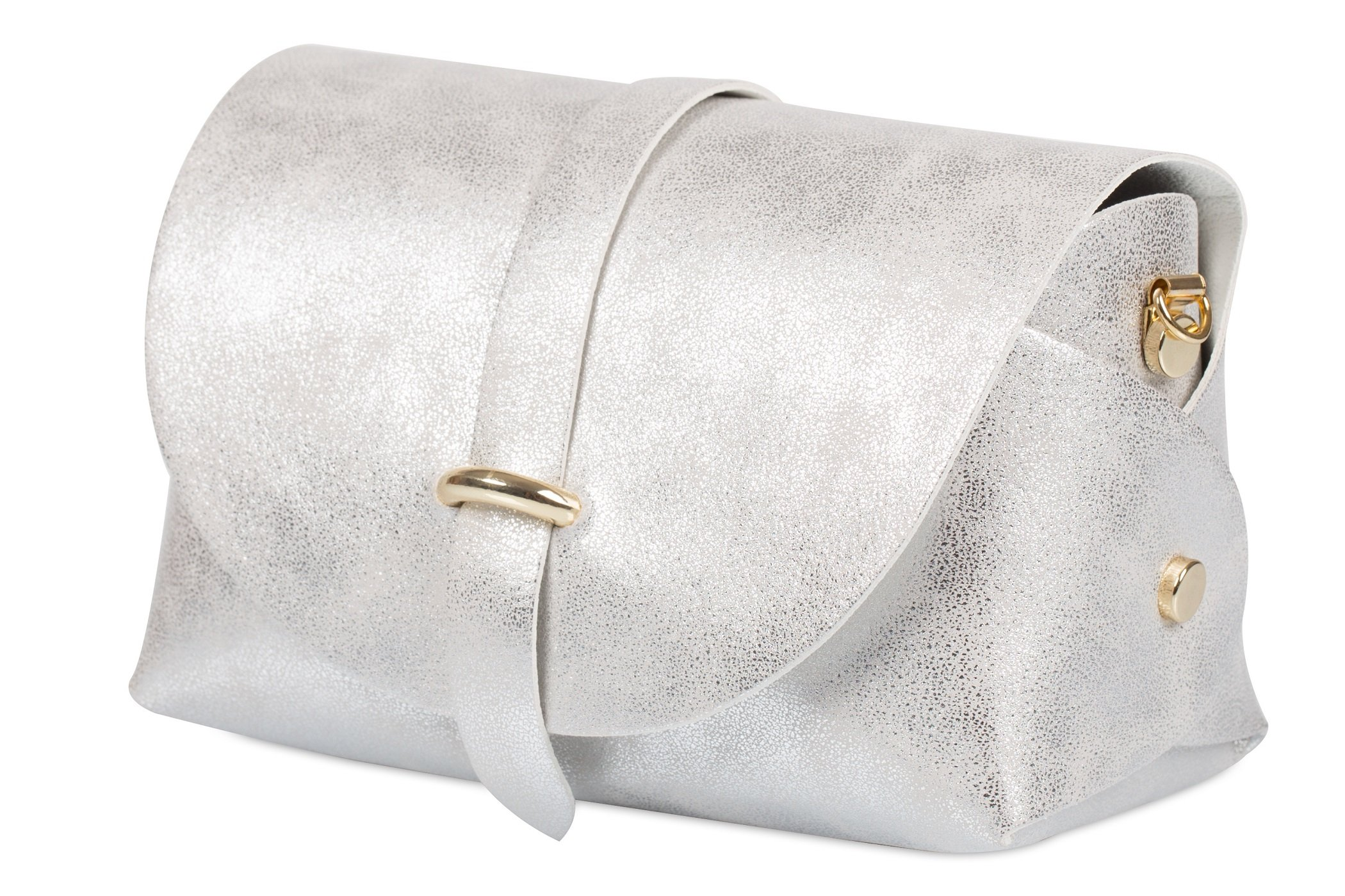 srebrny przecierany